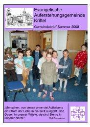 Sommer 2008 - Evangelische Auferstehungsgemeinde Kriftel