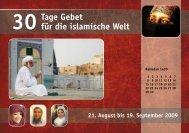 30 Tage Gebet für die islamische Welt 2009 - Österreichische ...