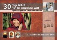 30 Tage Gebet für die islamische Welt - Österreichische ...