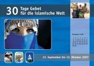 30 Tage Gebet für die islamische Welt 2007 - Österreichische ...