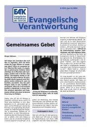 Heft 6/2002 - Evangelischer Arbeitskreis der CDU/CSU