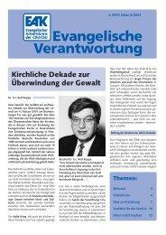 Heft 3/2001 - Evangelischer Arbeitskreis der CDU/CSU