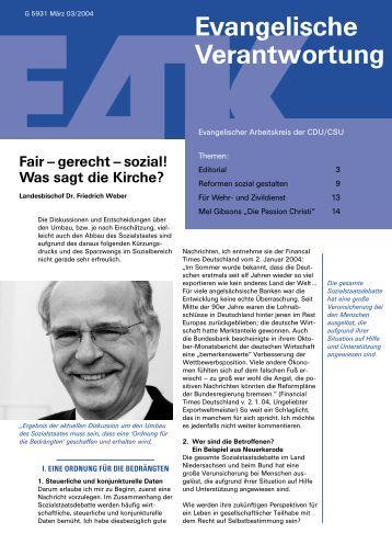 Heft 3/2004 - Evangelischer Arbeitskreis der CDU/CSU