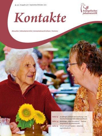 Ausgabe Sep-Okt 2012 - Evangelisches Johannesstift