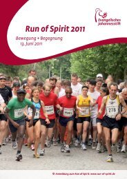 Run of Spirit 2011 - Evangelisches Johannesstift