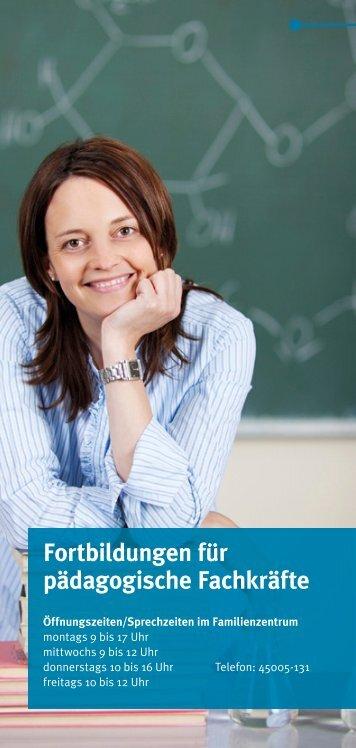 Fortbildungen für pädagogische Fachkräfte - Evangelisches ...