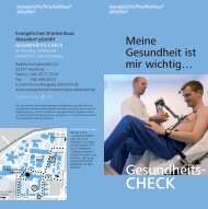 Gesundheits- - Evangelisches Krankenhaus Alsterdorf