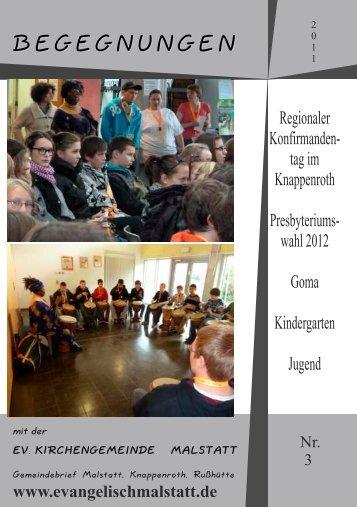 Gemeindebrief 3-11 - evangelische Kirchengemeinde Malstatt