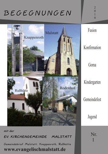 Gemeindebrief I-10.CDR - evangelische Kirchengemeinde Malstatt