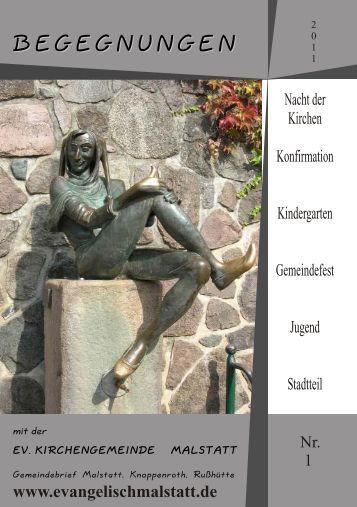 Gemeindebrief 1-11 - evangelische Kirchengemeinde Malstatt