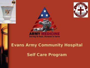 Self Care Program - Evans Army Community Hospital