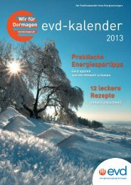 Energiekalender - EVD Energieversorgung Dormagen GmbH