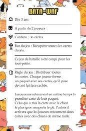 Batawaf rules.indd - Eveil et jeux