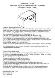 Reference 128264 Notice de Montage - Bureau ... - Eveil et jeux