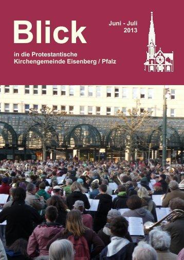 Juni-Juli 2013 - Protestantische Kirchengemeinde Eisenberg/Pfalz