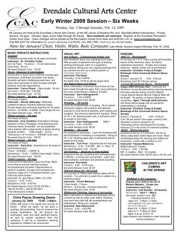 ECAC final edition EarlyWinter2009