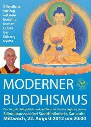 MODERNER BUDDHISMUS - event verteiler .de