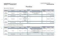 Preisliste - Event Management Universität Mannheim