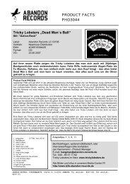Tricky Lobsters - Dead Man's Ball - event verteiler .de