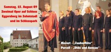 Samstag, 15. August 09 Zweimal Oper auf ... - event verteiler .de