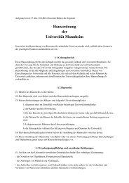 Hausordnung der Universität Mannheim - Event Management ...