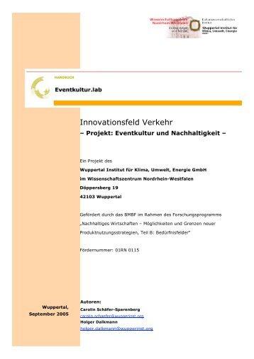Innovationsfeld Verkehr - Eventkultur.lab