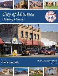 May 25th Public Hearing Draft Housing Element - City of Manteca