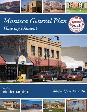 General Plan Housing Element - City of Manteca
