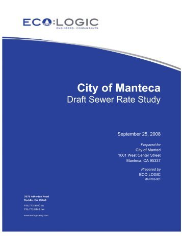 Draft Sewer Rate Study - City of Manteca