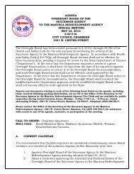 agenda oversight board of the successor agency to ... - City of Manteca