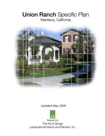 Union Ranch Specific Plan - City of Manteca