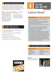 Lasera fasad och fasaddetaljer - Coop