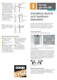 Installera dusch- och badkars- blandare - Coop