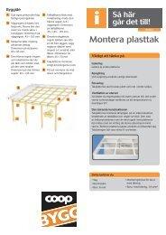 Montera plasttak - Coop
