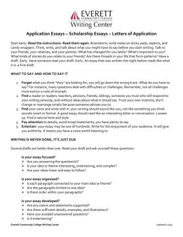 Scolarship Essays Resume How To Write A High School Scholarship