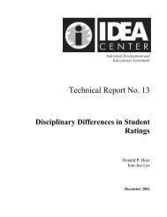 Technical Report #13 - The IDEA Center