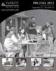 pre-fall 2012 credit courses - Everett Community College