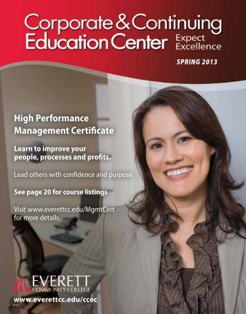 High Performance Management Certificate - Everett Community ...