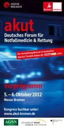 Vorprogramm - akut - Deutsches Forum für Notfallmedizin &  Rettung