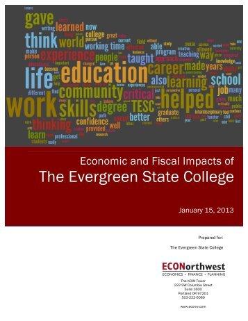 January 2013 economic impact study (PDF) - The Evergreen State ...