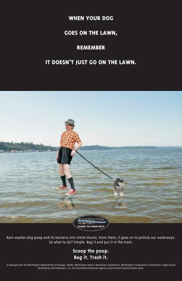Pet waste poster - The Evergreen State College