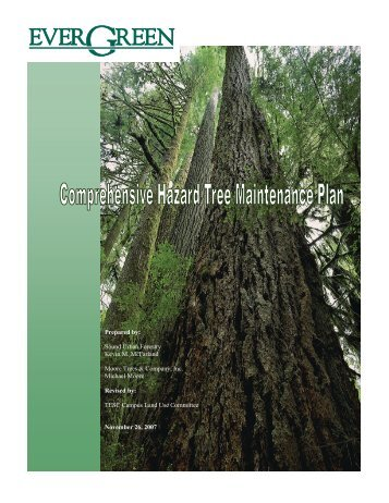 Hazard Tree Maintenance Plan - The Evergreen State College