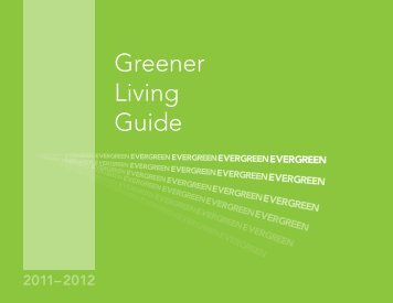 Greener Living Guide - The Evergreen State College
