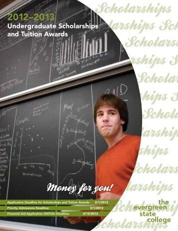 Undergraduate Scholarships and Tuition Awards - The Evergreen ...