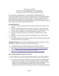 essay #2: the rhetoric of terrorism - The Evergreen State College
