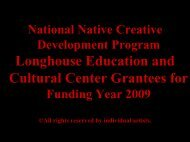 National Native Creative Development Program