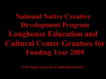 National Native Creative Development Program