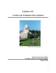 Legislature 101: A Guide to the Washington State Legislature