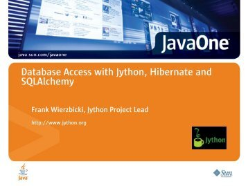 Database Access with Jython, Hibernate and SQLAlchemy - Oracle