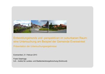 Entwicklungstrends und -perspektiven im suburbanen ... - Everswinkel